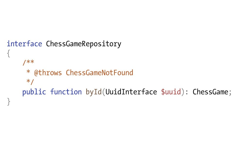 interface ChessGameRepository { /** * @throws C...