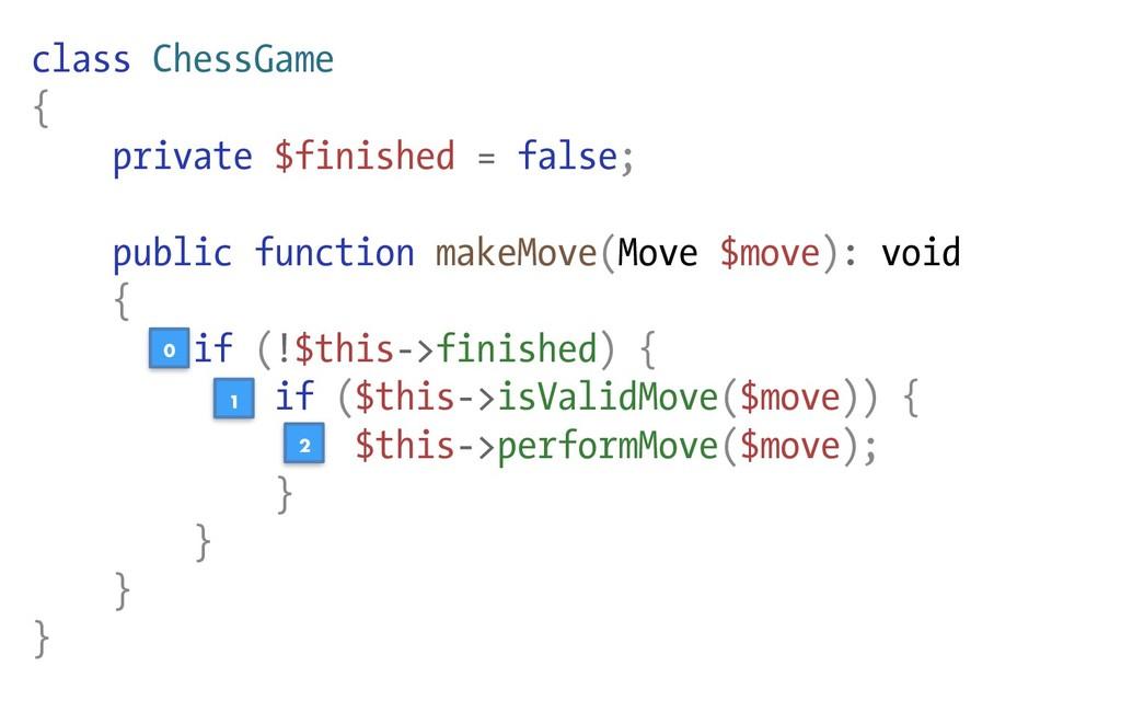 class ChessGame { private $finished = false; pu...