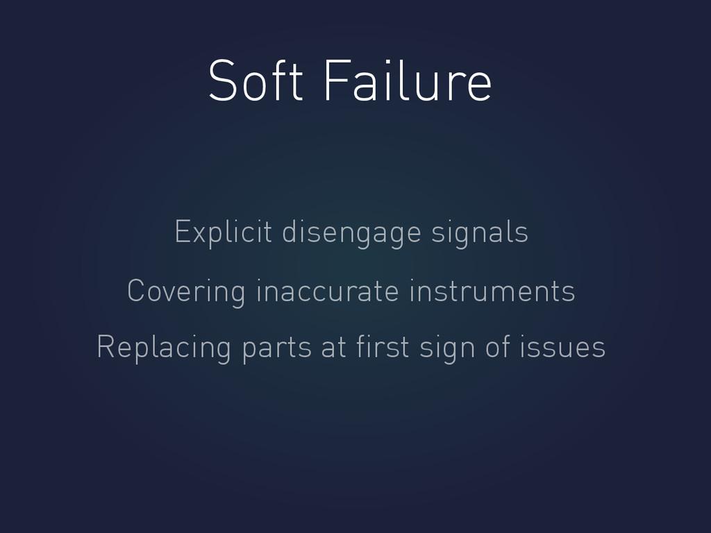 Soft Failure Explicit disengage signals Coverin...