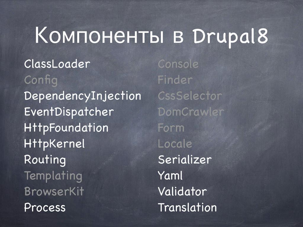Компоненты в Drupal8 ClassLoader Config Dependen...