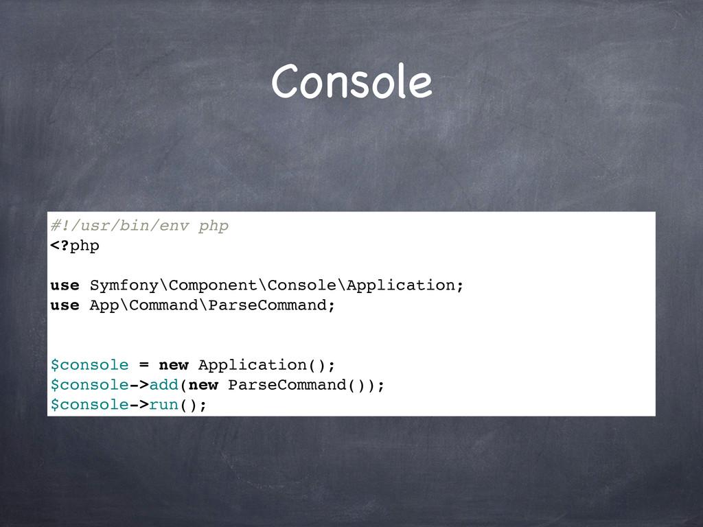 Console #!/usr/bin/env php <?php use Symfony\Co...