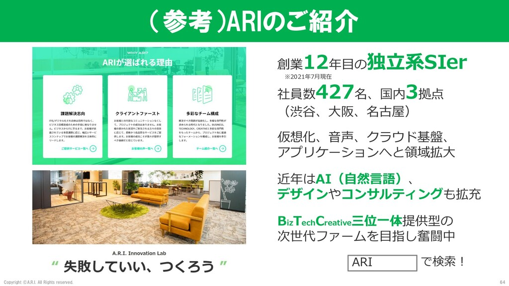 Copyright ©A.R.I. All Rights reserved. (参考)ARIの...