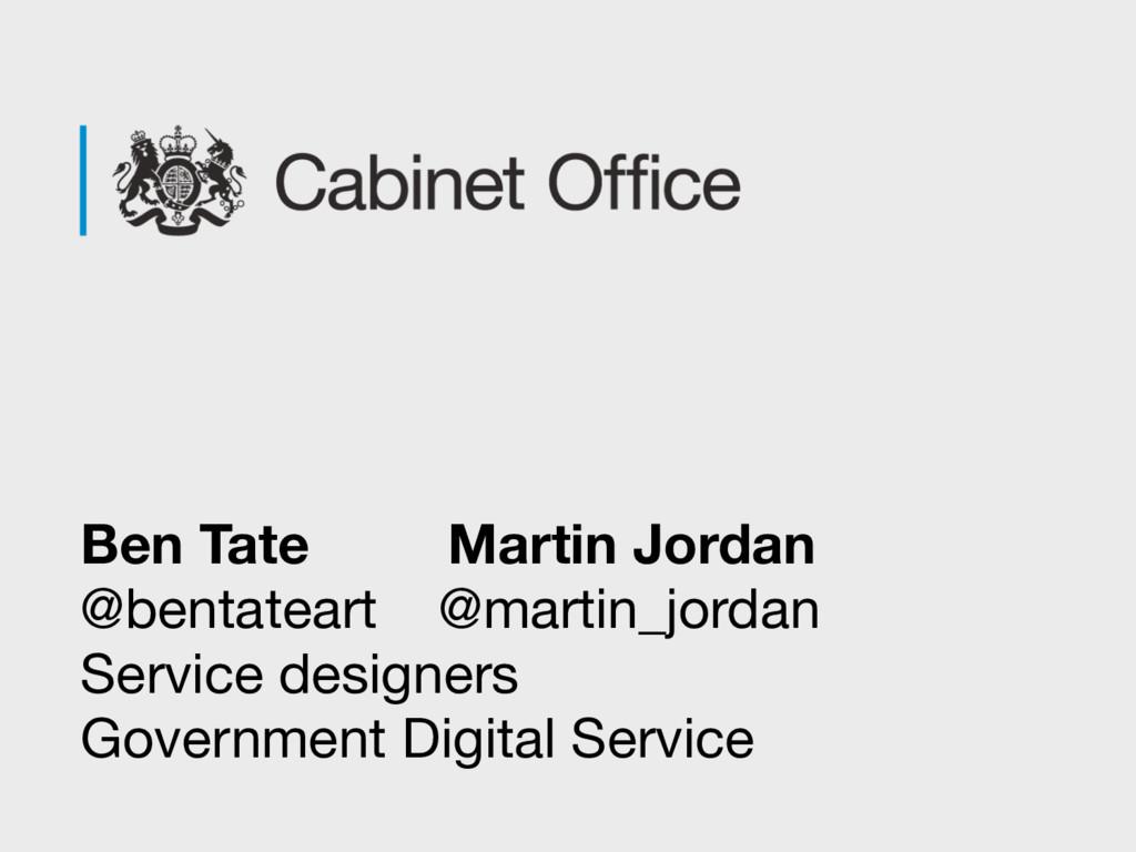 Ben Tate Martin Jordan @bentateart @martin_jord...