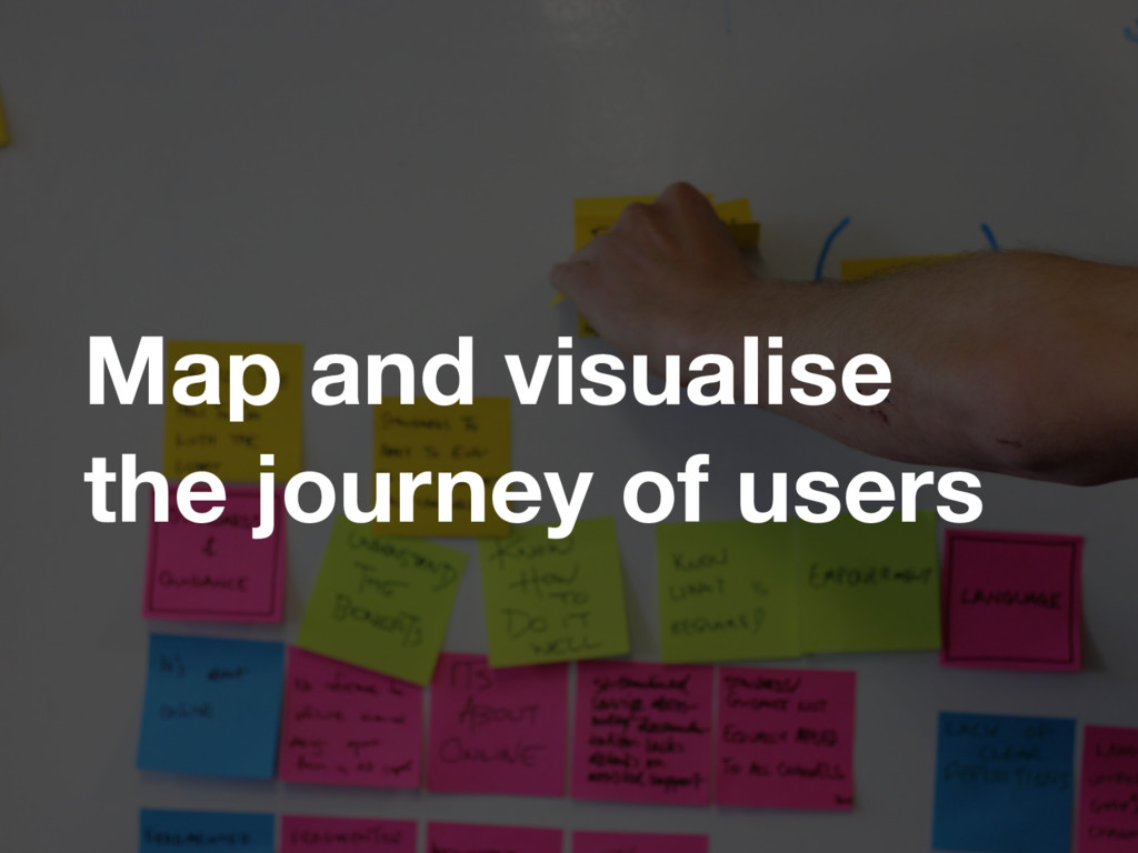 Map and visualise the journey of users