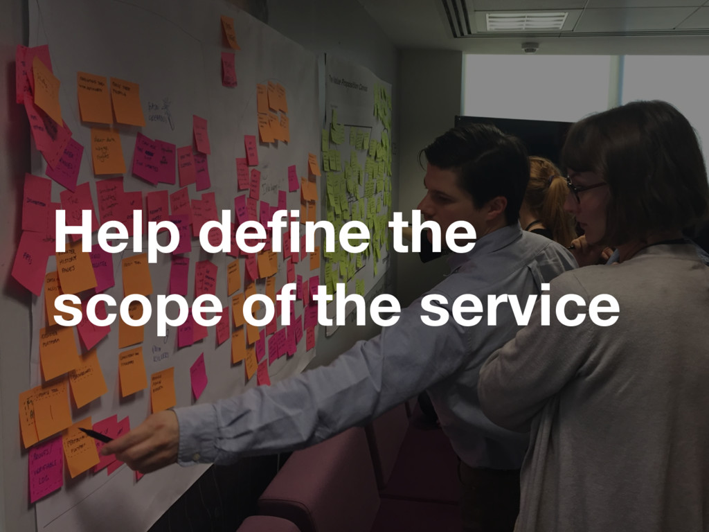 Help define the scope of the service