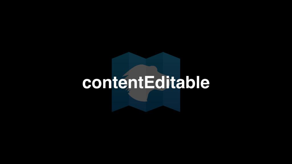 contentEditable