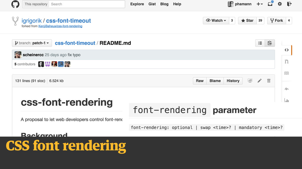 CSS font rendering