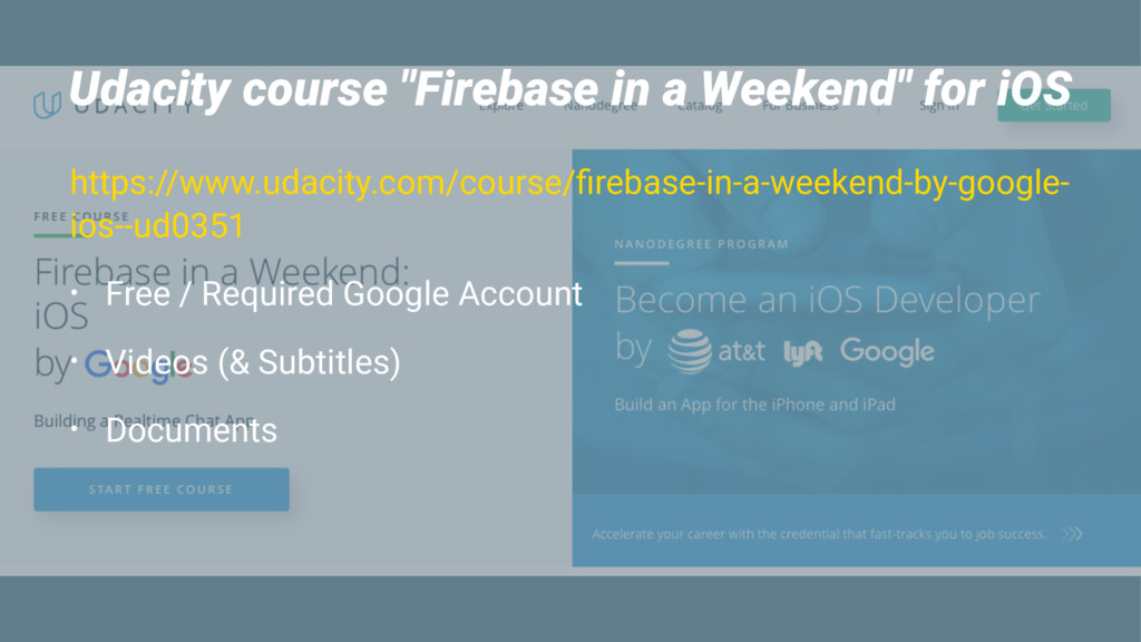 """Udacity course """"Firebase in a Weekend"""" for iOS ..."""