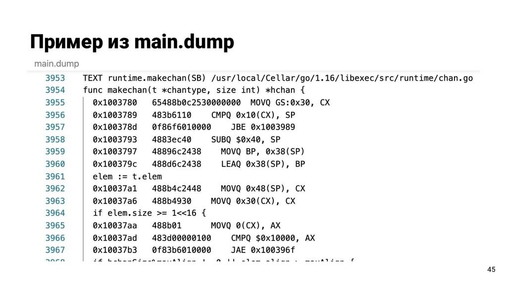Пример из main.dump 45