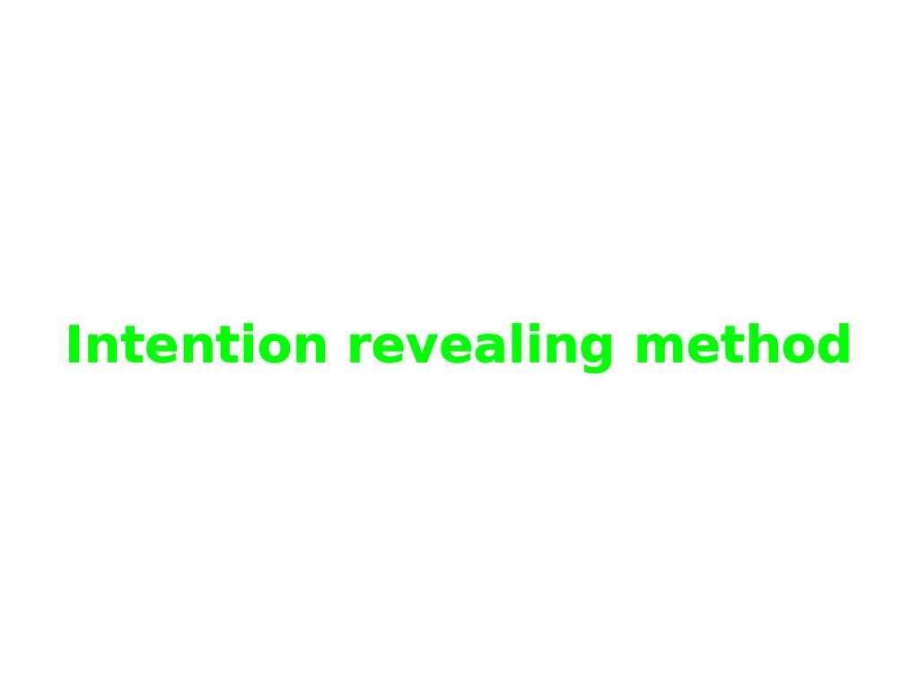 Intention revealing method