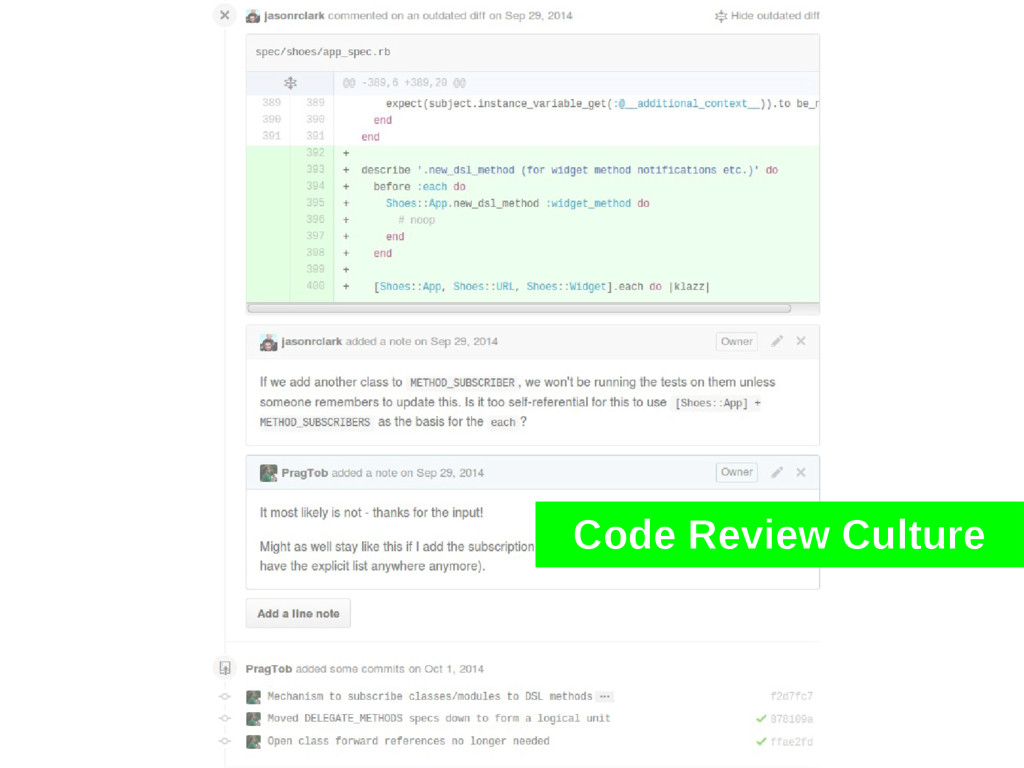Code Review Culture