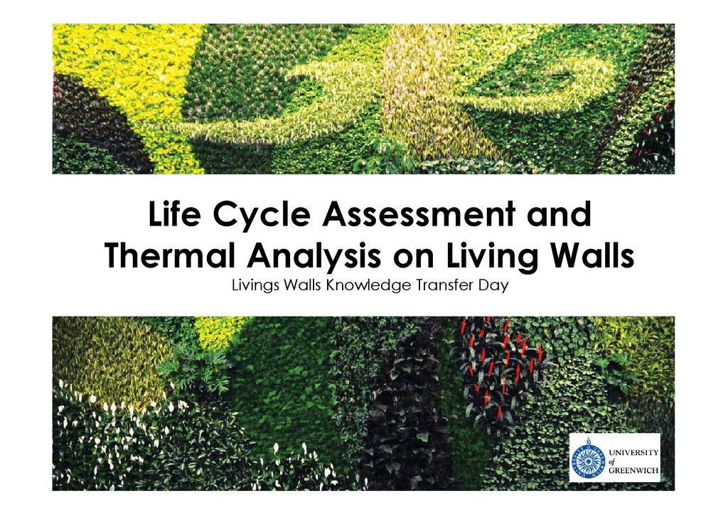 Life Cycle Assessment and Thermal Analysis on L...