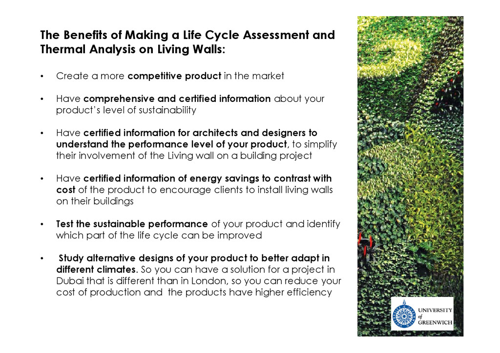 The Benefits of Making a Life Cycle Assessment ...