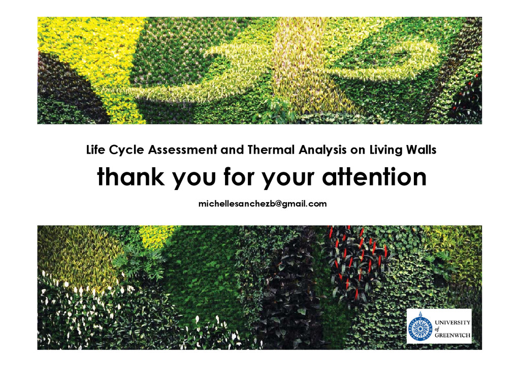 thank you for your attention Life Cycle Assessm...