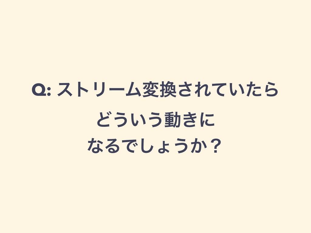 Q: ετϦʔϜม͞Ε͍ͯͨΒ Ͳ͏͍͏ಈ͖ʹ ͳΔͰ͠ΐ͏͔ʁ