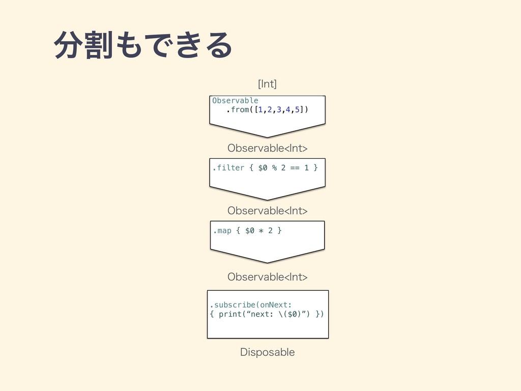 ׂͰ͖Δ Observable .from([1,2,3,4,5]) .filter { ...
