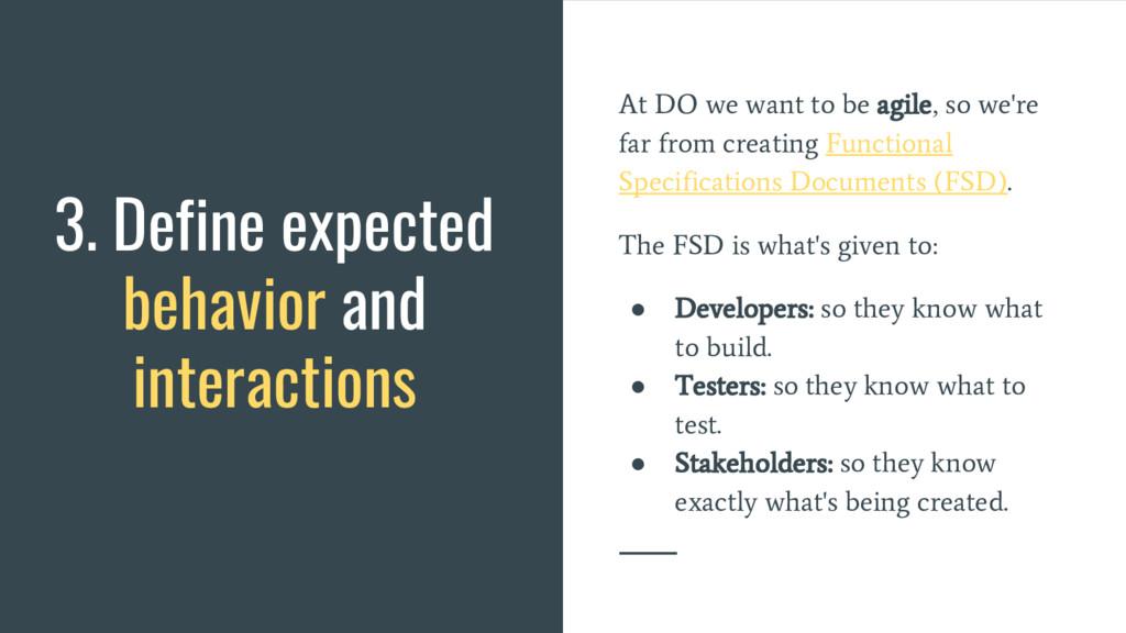 At DO we want to be agile, so we're far from cr...