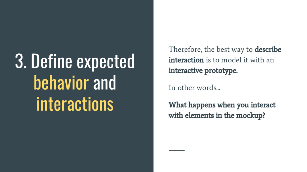 Therefore, the best way to describe interaction...