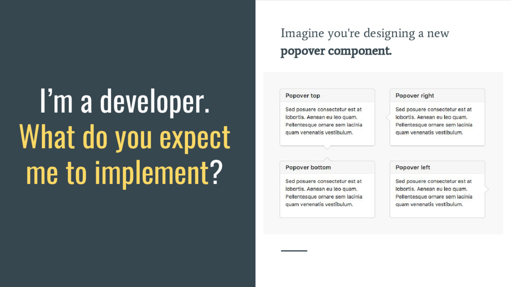 Imagine you're designing a new popover componen...