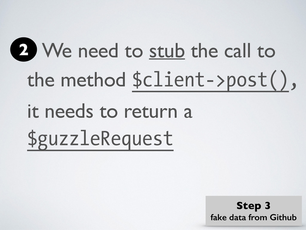 We need to stub the call to the method $client-...