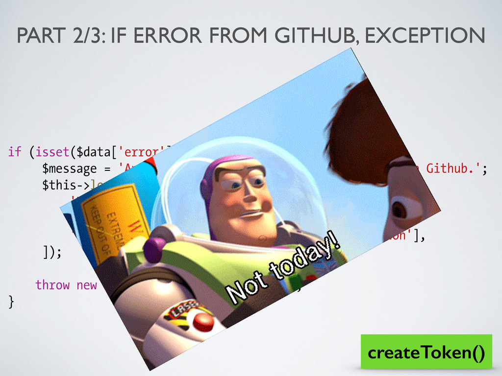 PART 2/3: IF ERROR FROM GITHUB, EXCEPTION if (i...