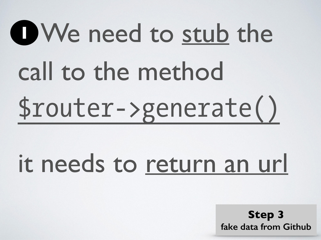 We need to stub the call to the method $router-...