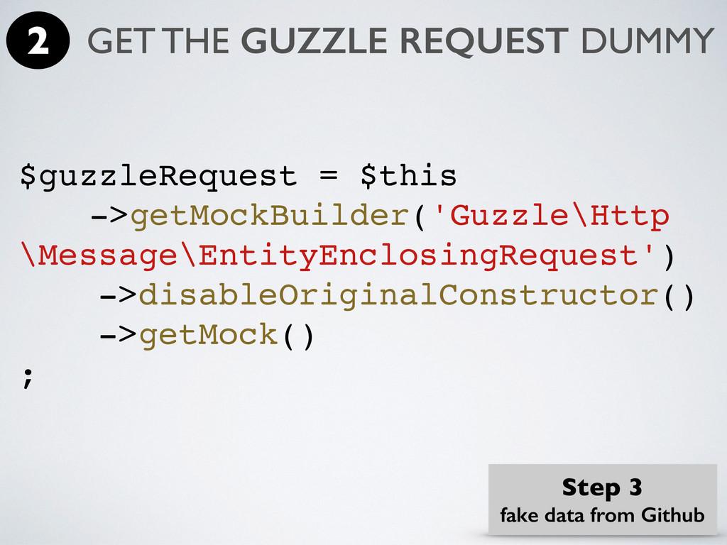 $guzzleRequest = $this ->getMockBuilder('Guzzle...