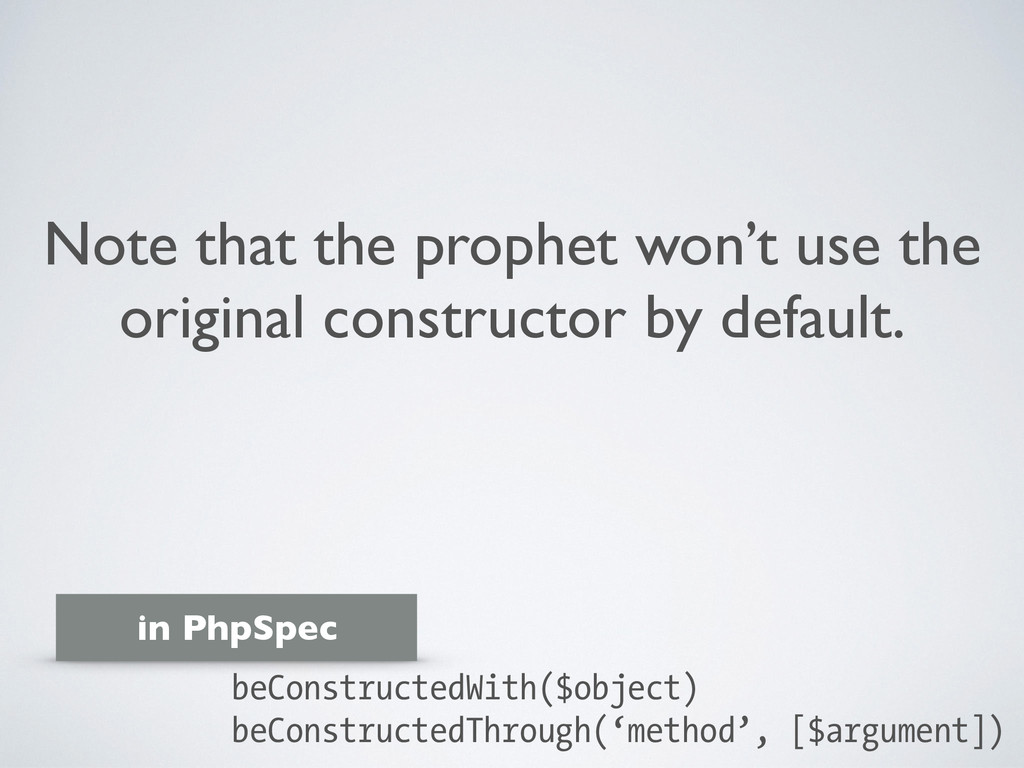 Note that the prophet won't use the original co...