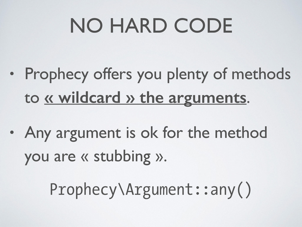 NO HARD CODE • Prophecy offers you plenty of me...