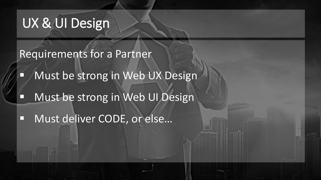 UX & UI Design Requirements for a Partner ▪ Mus...