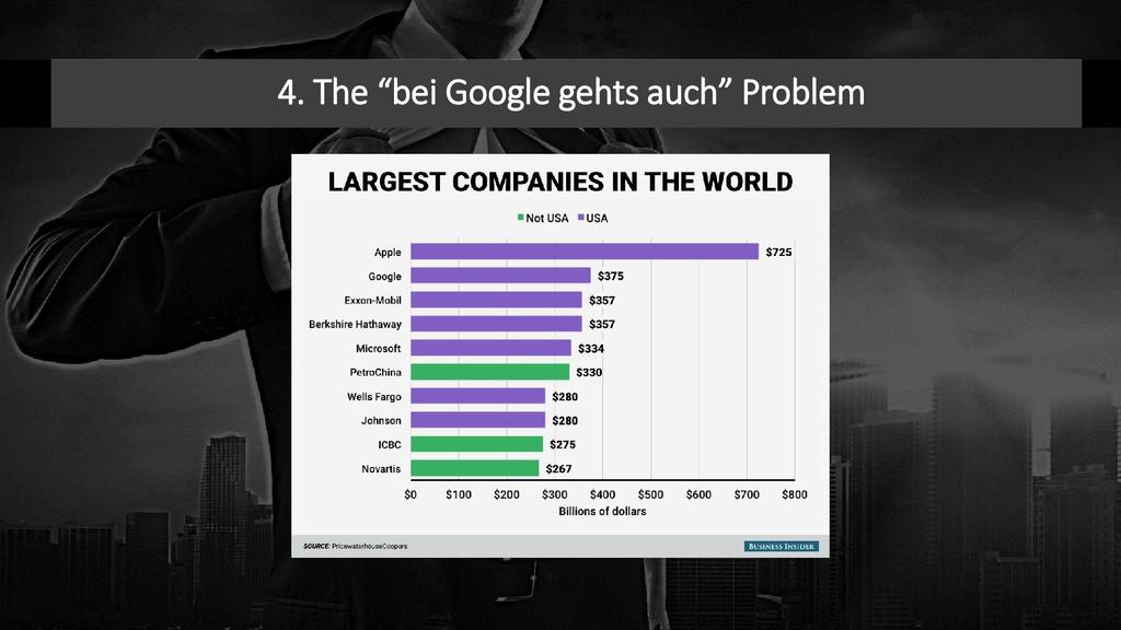 "4. The ""bei Google gehts auch"" Problem"