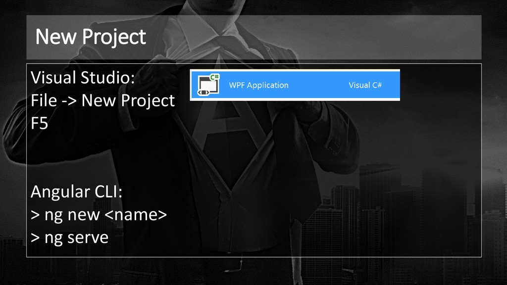 New Project Visual Studio: File -> New Project ...