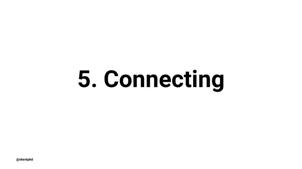 5. Connecting @skentphd