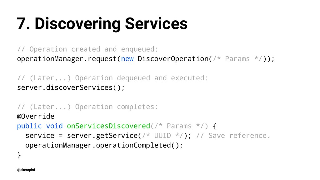 7. Discovering Services // Operation created an...