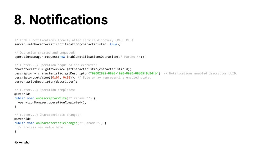 8. Notifications // Enable notifications locally...