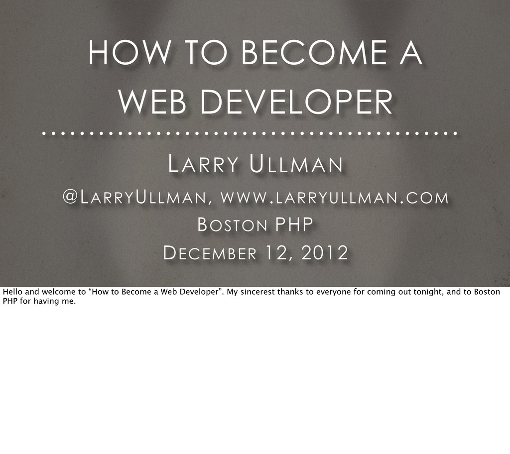 LARRY ULLMAN @LARRYULLMAN, WWW.LARRYULLMAN.COM ...