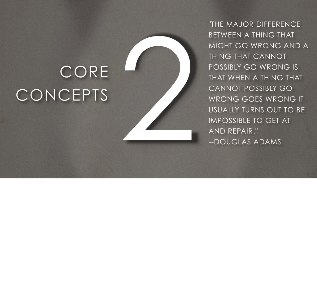 "2 CORE CONCEPTS ""THE MAJOR DIFFERENCE BETWEEN A..."