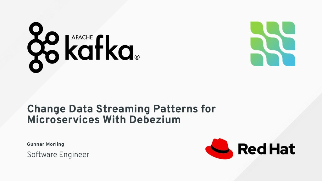 Change Data Streaming Patterns for Change Data ...