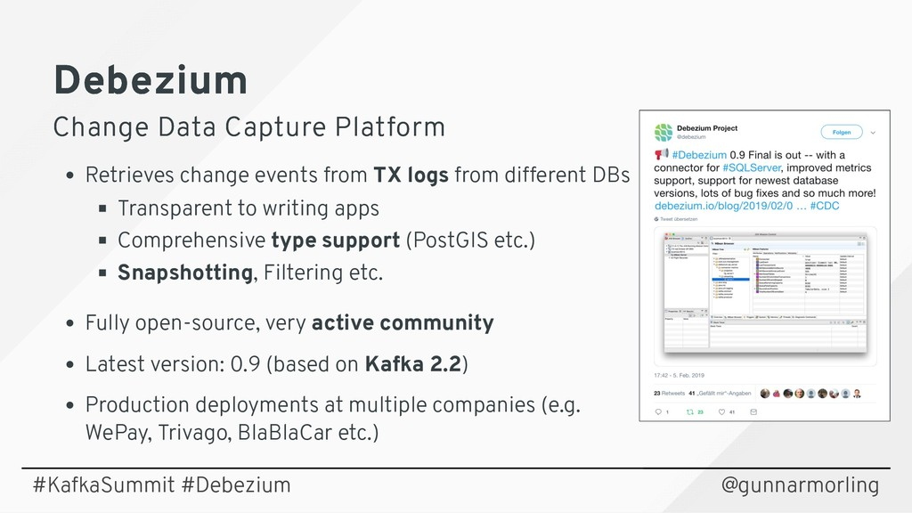 Debezium Debezium Change Data Capture Platform ...