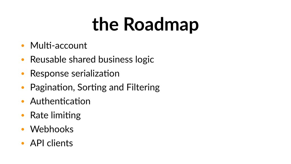 the Roadmap • MulG-account • Reusable shared bu...