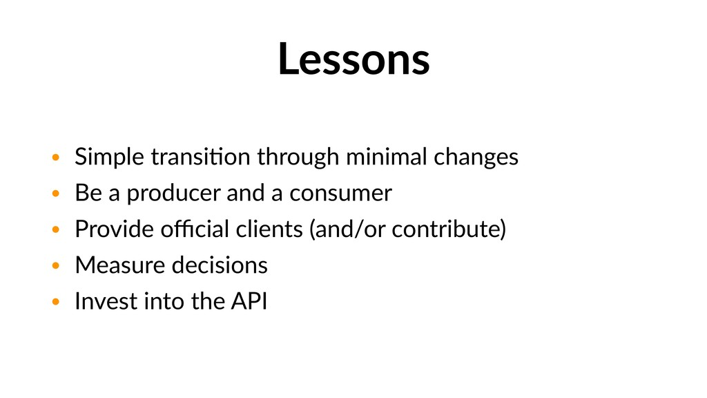 Lessons • Simple transiGon through minimal chan...