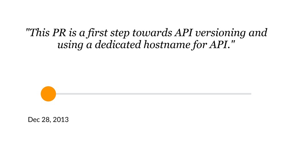 """This PR is a first step towards API versioning..."