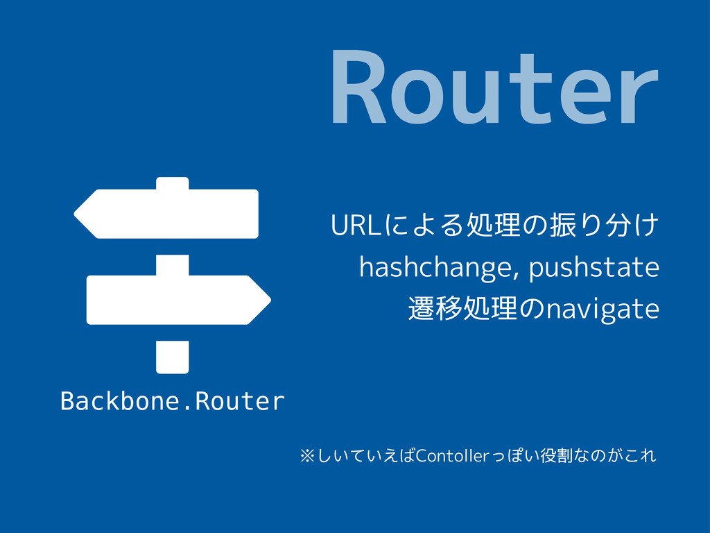  Router Backbone.Router URLによる処理の振り分け hashchan...