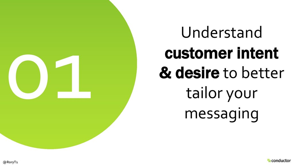 Understand customer intent & desire to better t...