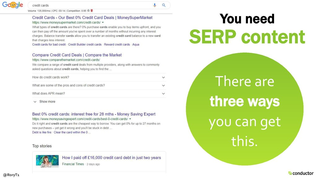 You need SERP content There are three ways you ...