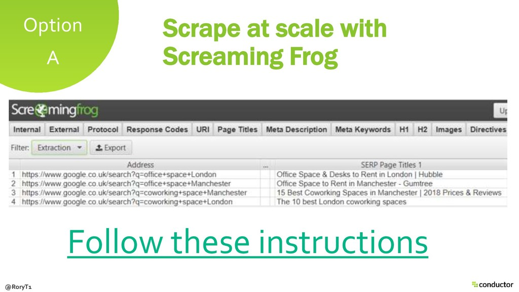Scrape at scale with Screaming Frog Follow thes...