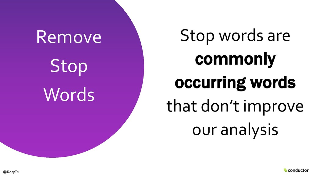 Stop words are commonly occurring words that do...