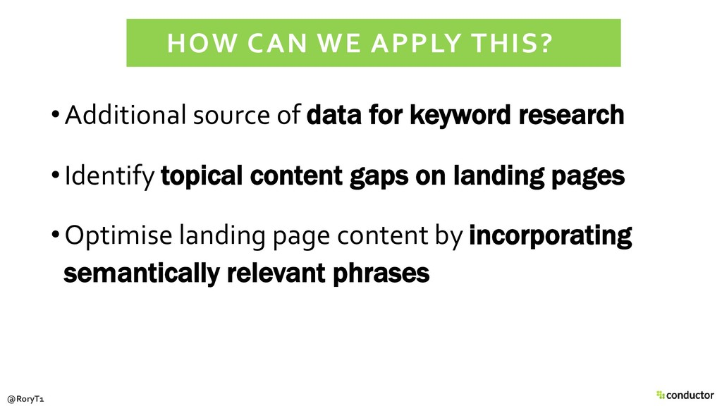 •Additional source of data for keyword research...