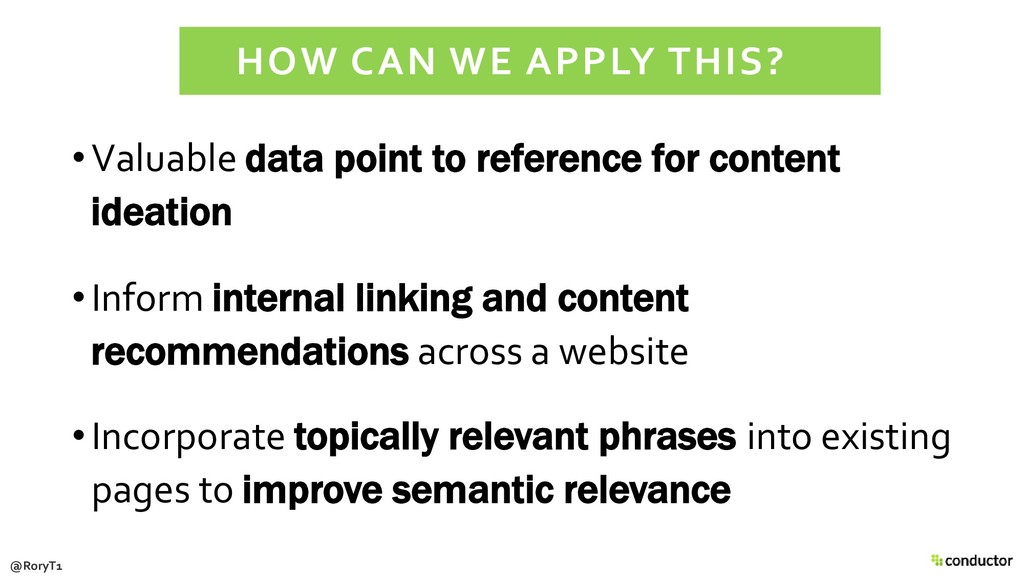 •Valuable data point to reference for content i...