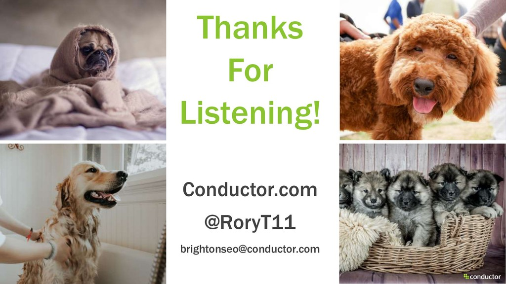 Thanks For Listening! Conductor.com @RoryT11 br...